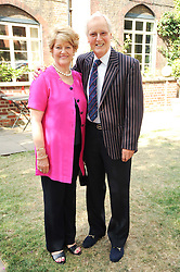 NICHOLAS & ANNIE PARSONS at the Lord's Taverners Diamond Jubilee Garden Party held in College Gardens, Westminster Abbey, London on 8th July 2010.