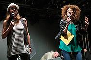 Milano, 17 giugno 2016. Festa di Radio Popolare al Pini. Giorgia Battocchio e Paola Piacentini.