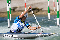 Chiara SABATTINI of Italy during the Canoe Single (WC1) Womens Semi Final race of 2019 ICF Canoe Slalom World Cup 4, on June 30, 2019 in Tacen, Ljubljana, Slovenia. Photo by Sasa Pahic Szabo / Sportida