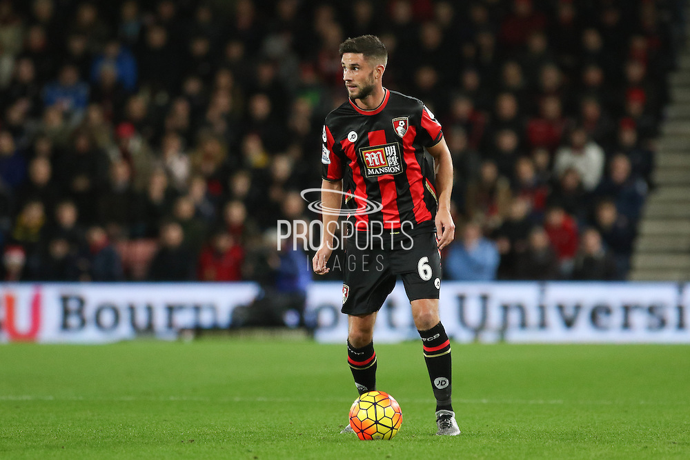 Andrew Surman of Bournemouth during the Barclays Premier League match between Bournemouth and Manchester United at the Goldsands Stadium, Bournemouth, England on 12 December 2015. Photo by Phil Duncan.