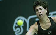 Carla Suarez Navarro (ESP) during the WTA Generali Ladies Open at TipsArena, Linz<br /> Picture by EXPA Pictures/Focus Images Ltd 07814482222<br /> 11/10/2016<br /> *** UK &amp; IRELAND ONLY ***<br /> <br /> EXPA-REI-161011-5008.jpg