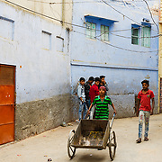 de blauw stad Jodhpur, India