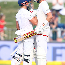 Durban South Africa - December 28, James Taylor with  Joe Root of England during the match between South Africa  and England day 3 of the 1st test , 28 December 2015. (Photo by Steve Haag) images for social media must have consent from Steve Haag