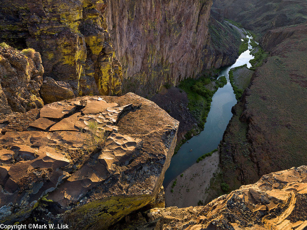 Deep Creek cuts through the desert at the base of Dickshooter ridge deep in the Owyhee Canyonlands.