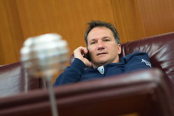 Samo Miklavc, assistant coach of Slovenia during training camp of Slovenian Volleyball Men Team before Qualification tournament for FIVB Volleyball World Championship, on May 11, 2017 in Arena Vitranc, Kranjska Gora, Slovenia. Photo by Matic Klansek Velej / Sportida
