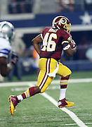 Washington Redskins running back Alfred Morris (46) runs for a third quarter touchdown during the NFL week 6 football game against the Dallas Cowboys on Sunday, Oct. 13, 2013 in Arlington, Texas. The Cowboys won the game 31-16. ©Paul Anthony Spinelli