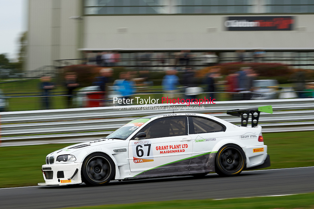 #67 Mick MERCER BMW E46 M3 GTR during GT Cup - Race 2 as part of the MSVR Oulton Park 10th October 2015 at Oulton Park, Little Budworth, Cheshire, United Kingdom. October 10 2015. World Copyright Taylor/PSP. Copy of publication required for printed pictures.  Every used picture is fee-liable.
