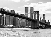 Brooklyn bridge and World Trade Center 1983