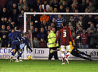 Photo: Dave Linney.<br />Walsall v Swindon Town. Coca Cola League 2. 09/12/2006<br />Swindon's Christian Roberts(partly hidden) makes it 2-0 from the spot.