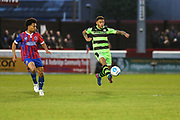 Forest Green Rovers Kaiyne Woolery(14) controls the ball during the Vanarama National League first leg play off match between Dagenham and Redbridge and Forest Green Rovers at the London Borough of Barking and Dagenham Stadium, London, England on 4 May 2017. Photo by Shane Healey.