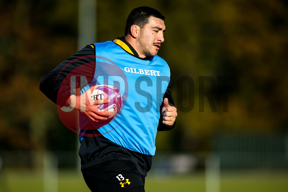 Jeff Toomaga-Allen of Wasps during training ahead of the European Challenge Cup fixture against SU Agen - Mandatory by-line: Robbie Stephenson/JMP - 18/11/2019 - RUGBY - Broadstreet Rugby Football Club - Coventry , Warwickshire - Wasps Training Session