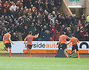 Dundee United&rsquo;s Blair Spittal celebrates after opening the scoring with a great free kick - Dundee v Dundee United, Ladbrokes Premiership at Dens Park<br /> <br />  - &copy; David Young - www.davidyoungphoto.co.uk - email: davidyoungphoto@gmail.com