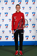 Warsaw, Poland - 2017 December 08: Tennis player Paulina Czernik from Poland poses while Photo Session of Fed Cup Team of Polish Tennis Association at Mera Tennis Club on December 08, 2017 in Warsaw, Poland.<br /> <br /> Mandatory credit:<br /> Photo by &copy; Adam Nurkiewicz / Mediasport<br /> <br /> Adam Nurkiewicz declares that he has no rights to the image of people at the photographs of his authorship.<br /> <br /> Picture also available in RAW (NEF) or TIFF format on special request.<br /> <br /> Any editorial, commercial or promotional use requires written permission from the author of image.