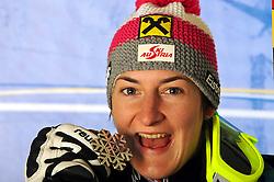 19.02.2011, Gudiberg, Garmisch Partenkirchen, GER, FIS Alpin Ski WM 2011, GAP, Damen, Slalom, im Bild silber Medaille Kathrin Zettel (AUT) // silver medal Kathrin Zettel (AUT) during Ladie's Slalom Fis Alpine Ski World Championships in Garmisch Partenkirchen, Germany on 19/2/2011. EXPA Pictures © 2011, PhotoCredit: EXPA/ E. Spiess +++++ ACHTUNG - BILDER DÜRFEN ERST NACH 18.30 UHR PUBLIZIERT WERDEN WARNING - IMAGES MAY NOT BE PUBLISHED UNTIL AFTER 18:30 CLOCK +++++
