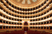 PALERMO, ITALY - 27 JANUARY 2013: A view of the Massimo Theatre from the stage in Palermo, Italy, on January 27th 2013...Das Rheingold is the first of the four operas that constitute Richard Wagner's Der Ring des Nibelungen ('The Ring of the Nibelung'). It was originally written as an introduction to the tripartite Ring, but the cycle is now generally regarded as consisting of four individual operas. Das Rheingold received its premiere at the National Theatre in Munich on 22 September 1869.
