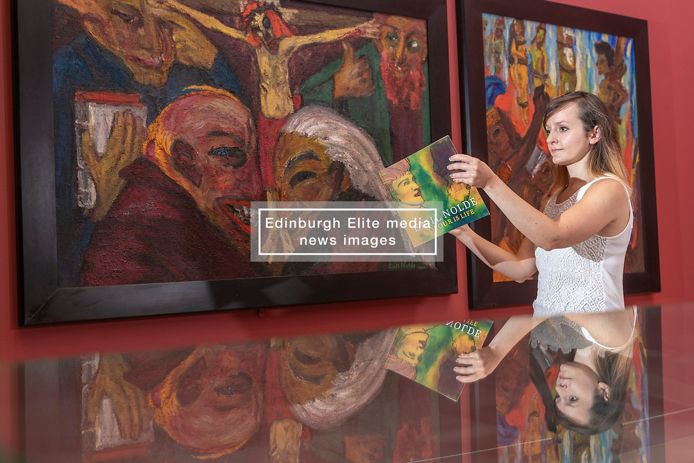 This summer will see a major presentation of stunning and vibrant works by pioneering German Expressionist artist Emil Nolde at the Scottish National Gallery of Modern Art in Edinburgh.<br /> <br /> This will be the most ambitious exhibition of Nolde's work in the UK in more than two decades and only the second ever exhibition to be held in Scotland, with over 120 paintings, drawings, watercolours and prints generously loaned by Nolde Stiftung Seebüll. <br /> <br /> Pictured: Two of the three paintings that make up the triptych Martydom