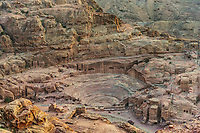 roman theater arena in Nabatean Petra Jordan middle east
