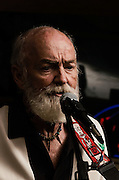 Gerry Thompson, of Killing Aunt Grace, performing on his cigar box guitar at The Bus Stop Music Cafe in Pitman, NJ.