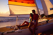 Couple on sailboat<br />