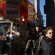 A street scene in Manhattan, New York, USA. 26th November 2012. Photo Tim Clayton