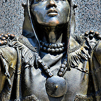 Saura Indian Woman at Museum of History in Raleigh, North Carolina<br />