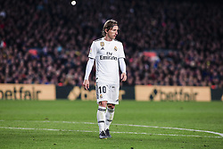 February 6, 2019 - Barcelona, Spain - 10 Modric of Real Madrid during the semi-final first leg of Spanish King Cup / Copa del Rey football match between FC Barcelona and Real Madrid on 04 of February of 2019 at Camp Nou stadium in Barcelona, Spain  (Credit Image: © Xavier Bonilla/NurPhoto via ZUMA Press)
