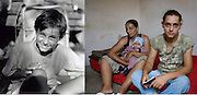 Adriana Lica at the orphanage in Propricani in 1995 when she was 12 and in Iasi in 2008 in Iasi in a squatted building she lived with other ex-orphans from Popricani. She now has a very tiny basement flat in where she raises by herself her 3 children. She doesn't work and receives benefits from the state.