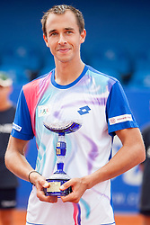 Lukas Rosol of Czech Republic during flower ceremony after final of doubles at 25th Vegeta Croatia Open Umag, on July 27, 2014, in Stella Maris, Umag, Croatia. Photo by Urban Urbanc / Sportida