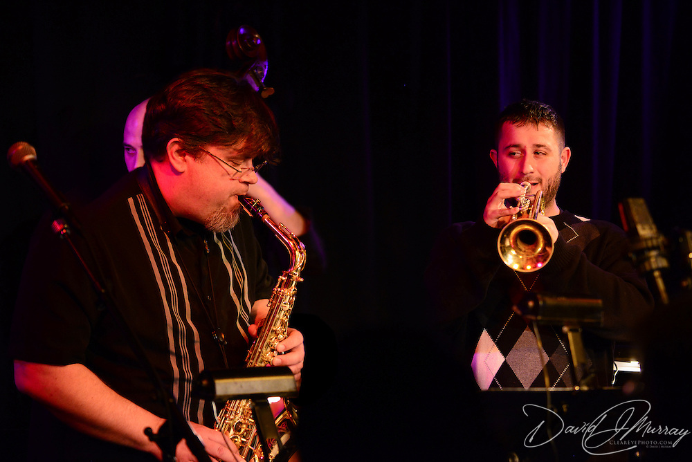 Saxophonist and PMAC executive director Russ Grazier, Jr. performs in Jazz Night 2013 at The Loft in Portsmouth, NH
