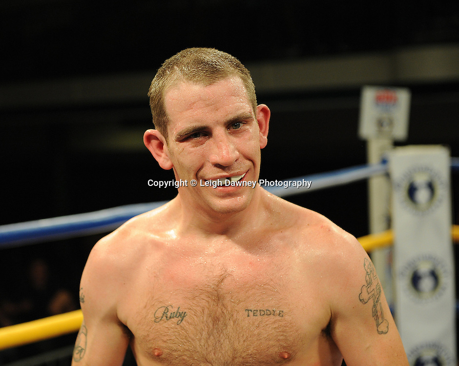 Peter McDonagh defeats Johnny Greaves at York Hall, Bethnal Green, London on Friday 30th September 2011. Box Nation.tv's debut live TV Channel 456 on Sky. Photo credit: © Leigh Dawney. Queensberry Promotions.
