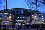 General View of Etihad stadium before the Champions League round of 16, leg 2 of 2 match between Manchester City and FC Schalke 04 at the Etihad Stadium, Manchester, England on 12 March 2019.