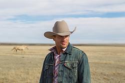 cowboy on a horse ranch