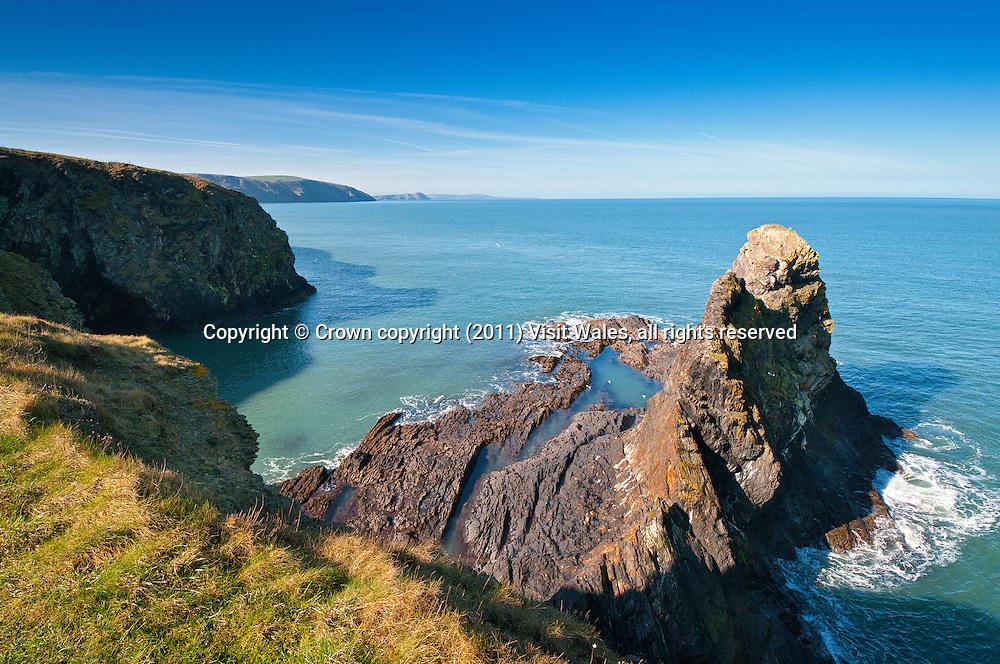 Near Ceibwr<br /> Pembrokeshire / Wales Coast Path<br /> Pembrokeshire<br /> South<br /> Coastal Scenery