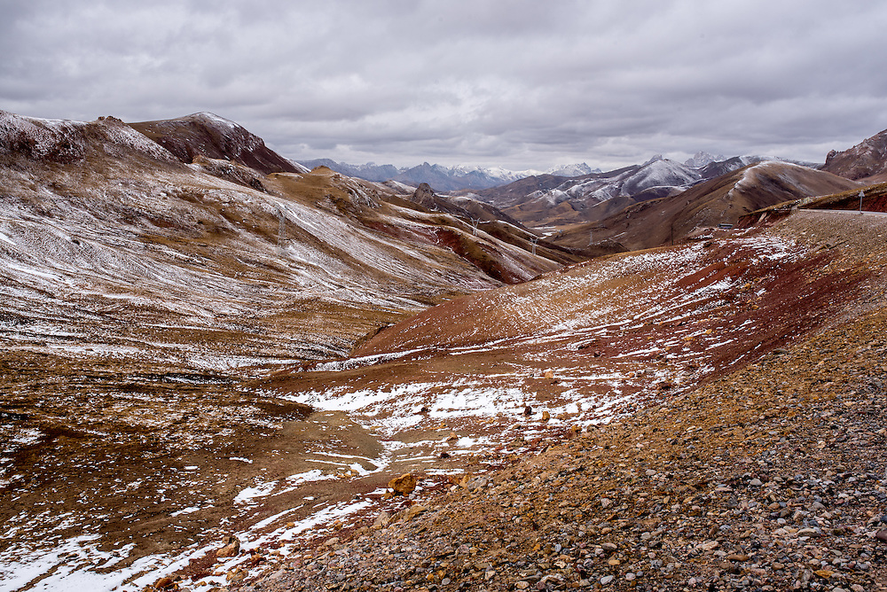 A landscape in Amdo region, Tibet (Qinghai, China).