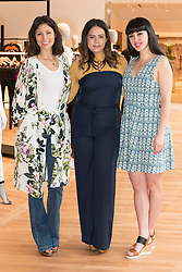 © Licensed to London News Pictures. 04/04/2016. MELISSA HEMSLEY, plus-size model MAHALIA HANDLEY and  JASMINE HEMSLEY attend the new SELFRIDGES The Body Studio - the world's first fully integrated bodywear department and the largest retail space ever opened by the iconic London store. Covering over 37,000 sq ft, customers will experience over 3,000 brands and more than 5,000 different clothing options.London, UK. Photo credit: Ray Tang/LNP