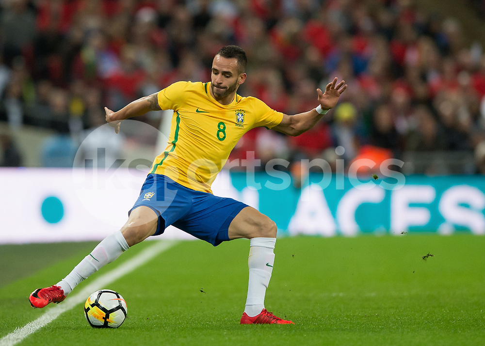 Renato Augusto of Brazil during the International Friendly match between England and Brazil at Wembley Stadium, London, England on 14 November 2017. Photo by Vince Mignott.