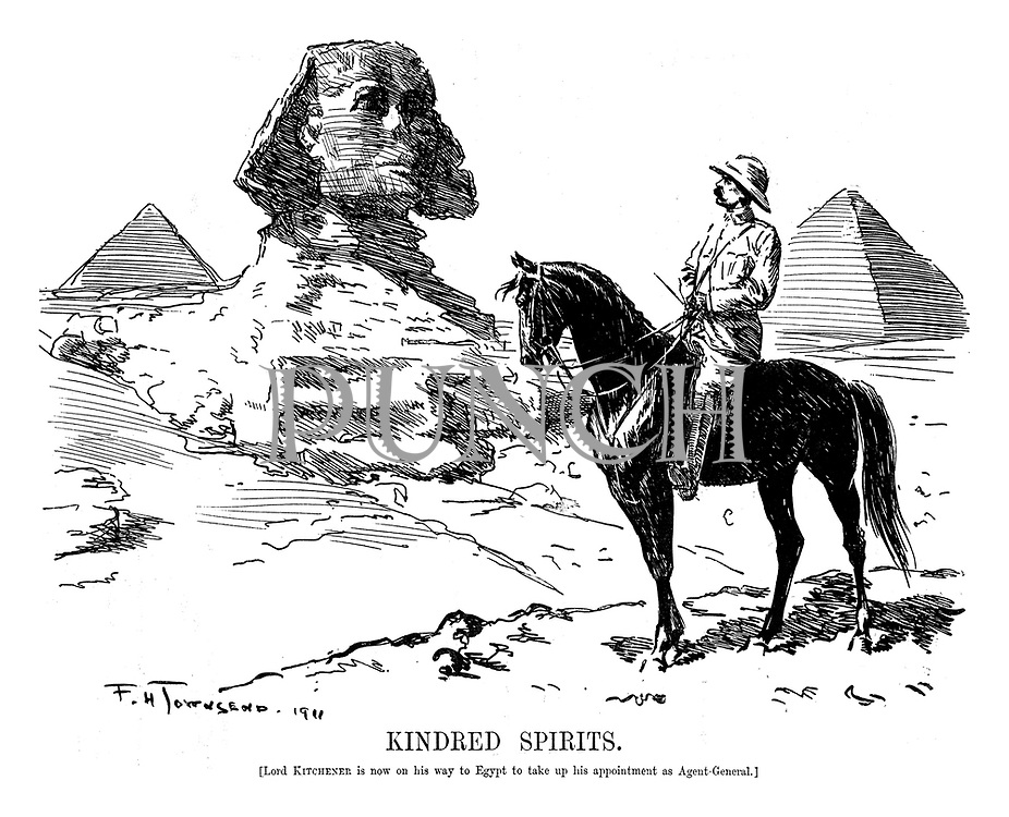 Kindred Spirits. (Lord Kitchener is now on his way to Egypt to take up his appointment as Agent-General.]