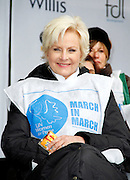Cindy McCain attends the March To End Violence Against Women at the United Nations Headquarters in New York City, New York on March 07, 2014.