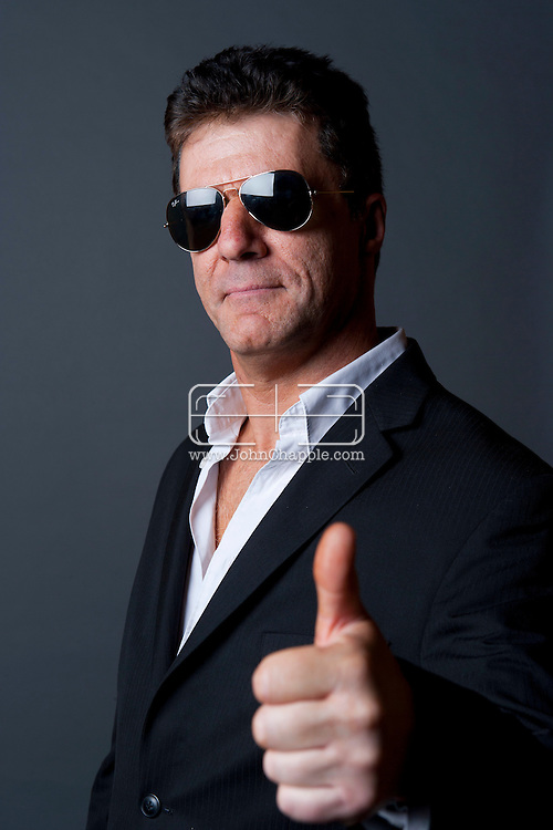 February 20th, 2012, Las Vegas, Nevada. The 21st Annual Reel Awards in Las Vegas where celebrity lookalikes show off their talents. Pictured here is Andy Monk as Simon Cowell..PHOTO © JOHN CHAPPLE / www.johnchapple.com.
