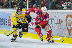 24.01.2020, Stadthalle, Klagenfurt, AUT, EBEL, EC KAC vs Vienna Capitals, 43. Runde, im Bild Tylor VAUSE (SPUSU VIENNA CAPITALS, #91), Daniel OBERSTEINER (EC KAC, #98) // during the Erste Bank Eishockey League 43th round match between EC KAC and Vienna Capitals at the Stadthalle in Klagenfurt, Austria on 2020/01/24. EXPA Pictures © 2020, PhotoCredit: EXPA/ Gert Steinthaler