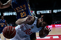 SPAIN, Madrid: Real Madrid's Argentine player Facundo Campazzo during the Liga Endesa Basket 2014/15 match between Real Madrid and Ucam Murcia, at Palacio de los Deportes in Madrid on November 16, 2014.