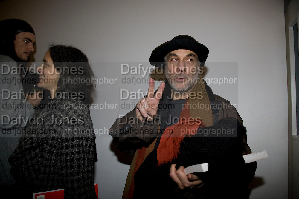 RON ARAD,  Prada Congo Art Party hosted by Miuccia Pada and Larry Gagosian. The Double Club,  Torrens St. London EC1. The Double Club is A Carsten Holler project by Fondazione Prada. 10 February 2009. *** Local Caption *** -DO NOT ARCHIVE-© Copyright Photograph by Dafydd Jones. 248 Clapham Rd. London SW9 0PZ. Tel 0207 820 0771. www.dafjones.com.<br /> RON ARAD,  Prada Congo Art Party hosted by Miuccia Pada and Larry Gagosian. The Double Club,  Torrens St. London EC1. The Double Club is A Carsten Holler project by Fondazione Prada. 10 February 2009.