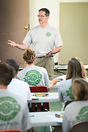 The Rev. Steven Schave, director of LCMS Urban & Inner-City Ministry, gives a presentation during the 2014 Youth Corps pilot project at Shepherd of the City Lutheran Church on Tuesday, August 12, 2014, in Philadelphia, Pa. LCMS Communications/Erik M. Lunsford