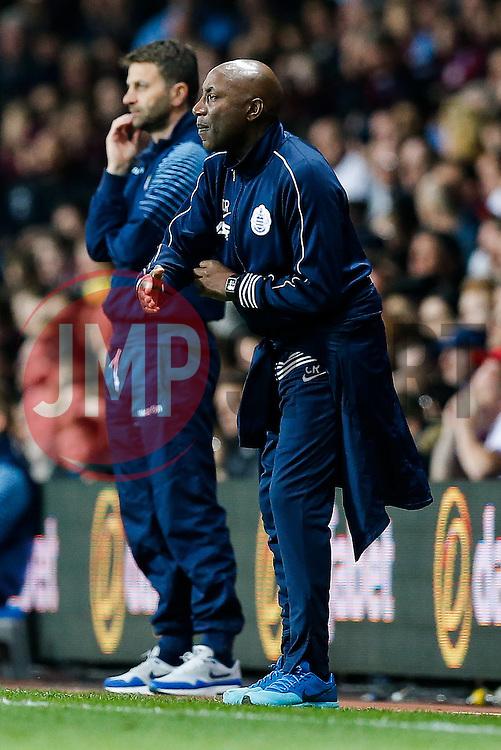 QPR Manager Chris Ramsey gestures - Photo mandatory by-line: Rogan Thomson/JMP - 07966 386802 - 07/04/2015 - SPORT - FOOTBALL - Birmingham, England - Villa Park - Aston Villa v Queens Park Rangers - Barclays Premier League.