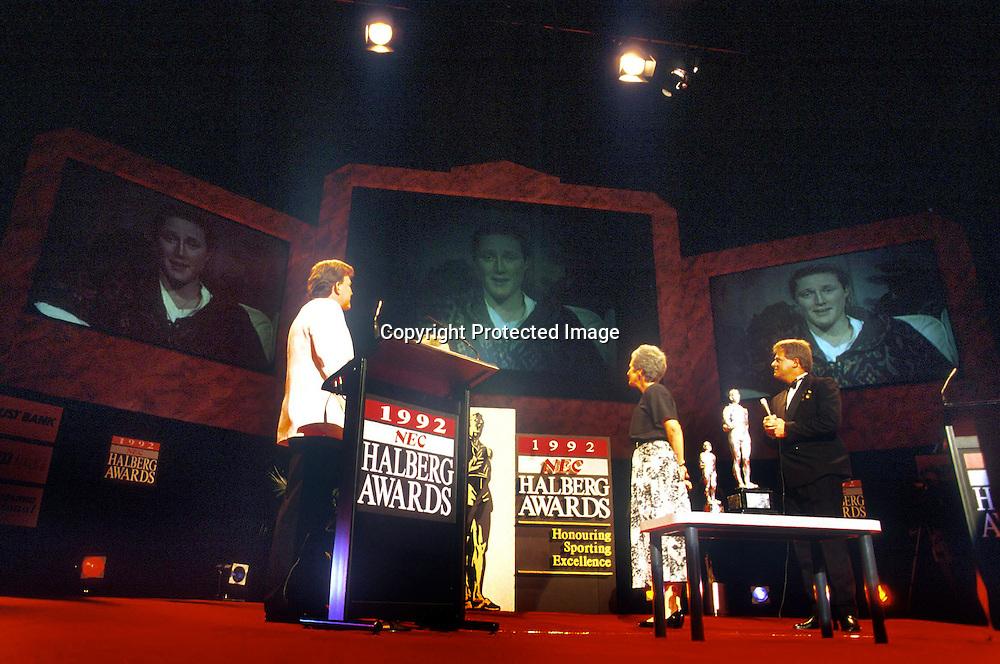 Annelise Coberger wins the Halberg award for Skiing. Halberg Sports Awards 1993. Photo: Photosport.co.nz
