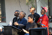 "Sep 20, 2007 - Jena, LA, USA - Rev. AL SHARPTON is joined by two of the Jena 6, on his left and Mrs. Bell, Mychal's mom in front of the LaSalle parish court house Thursday Sept.20,2007. The plight of the ""Jena Six"", a group of black teenagers who were initially charged with attempted murder after beating a white classmate, has provoked one of the biggest civil rights demonstrations in the US in recent years. Protesters converged on the small Louisiana town of Jena to demonstrate against what they said was a double standard of prosecution for blacks and whites. They came in their thousands, protesters from across the United States carrying banners and signs that declared ""Free the Jena six"" and ""Enough is enough"". (Credit Image: © Suzi Altman/ZUMA Press).."