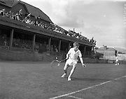 Tennis at Fitzwilliam Tennis Club.28/08/57