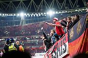 FC Cologne fans during the Europa League match between Arsenal and FC Koln at the Emirates Stadium, London, England on 14 September 2017. Photo by Sebastian Frej.