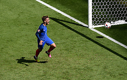 Antoine Griezmann of France celebrates scoring his second goal of the game  - Mandatory by-line: Joe Meredith/JMP - 26/06/2016 - FOOTBALL - Stade de Lyon - Lyon, France - France v Republic of Ireland - UEFA European Championship Round of 16