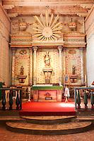 Altar at Mission San Miguel Arcangel, San Miguel, California